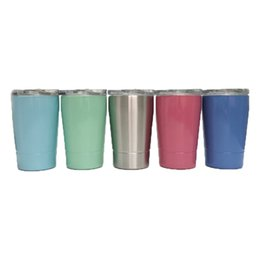 080e2385bc2 Stainless Steel Cup Wine Tumblers 12oz 350ML Kid Milk Cup Wine Glasses Beer Mugs  Wine Glass Coffee Mugs With Lid With Straw