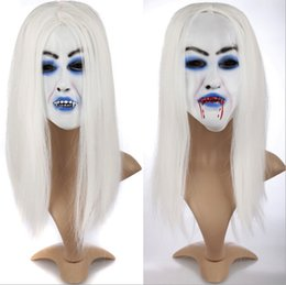 $enCountryForm.capitalKeyWord Canada - Cosplay Wig Scary Mask Banshee Ghost Halloween Costume Accessories Costume Wig Party Masks