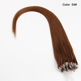 """Hair Colors Australia - Straight Loop Micro Ring Hair 100% Human Micro Bead Links Machine Made Remy Hair Extension 16"""" 18''20"""" 22''24"""" 1g s 100g 20 Colors"""