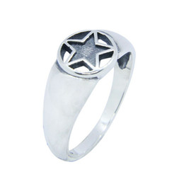 top indian girls NZ - Free Shipping Size 6-10 Lady Girls 925 Sterling Silver Ring Jewelry Newest S925 Top Quality Five-pointed star Ring