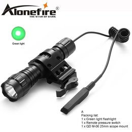 green flashlight for hunting NZ - AloneFire CREE 501Bs Green Flash LED Tactical Flashlight Tactical Pressure Switch Installation For Hunting Camping Household Lighting