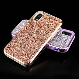 Wholesale Glitter TPU PC Mobile Phone Case Hybrid Crystal Rhinestone Sparkle Glitter Hard Diamond Case Cover for IpphoneX case