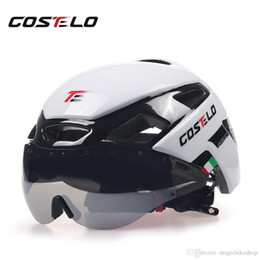 Helmet cycling green online shopping - 2018 Costelo Cycling Light Helmet MTB Road Bike Helmet Bicycle Helmet Speed Airo RS Ciclismo Goggles Safe Men Women g