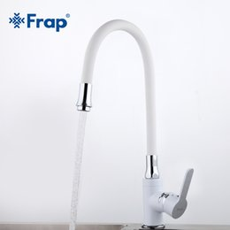 $enCountryForm.capitalKeyWord NZ - Frap new white Kitchen sink Faucets mixer Chrome Brass Single Handle 360 Degree Rotation Hot and cold water tap torneira F4041