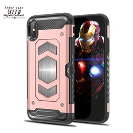$enCountryForm.capitalKeyWord NZ - 2018 New Arrival Armor Case With Magnetic Car Mount Phone Case With Slot Card For iPhoneX 8 Plus 7 plus 6S Shockproof 42606