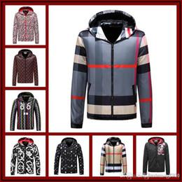 Discount men flower clothes - 2018 luxury designer brand best version Autumn men clothing red blue striped Tracksuits flowers print zipper suit baseba