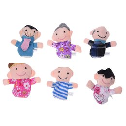 wholesale puppets sale Australia - ABWE Best Sale 6Pcs Family Finger Puppet Cloth Baby Childs Kid Play Learn Story Helper Toy Doll