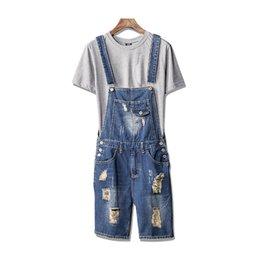 Plus Size 5xl Casual Loose Denim Jean Bib Work Garden Pregnant Harem Overalls Jumpsuits Sleeveless Romper Ankle Length Jeans Women's Clothing Bottoms