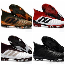 c0319e8c6c9e Newest 2018 Predator 18.1 Mens FG Football Boots Free Shipping Techfit  Laceless High Ankle Soccer Cleats Cheap Soccer Shoes New