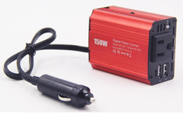 Wholesale Free freight Dual USB 12V to 110V 220v car inverter 150W 200W automotive supplies LLFA