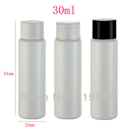 Travel Plastic Cosmetic Bottles Canada - 30ml X 100 white empty plastic travel bottles with screw caps ,30cc hotel personal care cosmetics bottle, 1oz cosmetic container