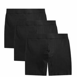 Men Boxer Long NZ - Hot Sale Cuecas 3pcs lot Men's Boxer Underwear Pants Cotton Men Solid Shorts Loose Calecon Pour Homme Mens Boxers Long Leg