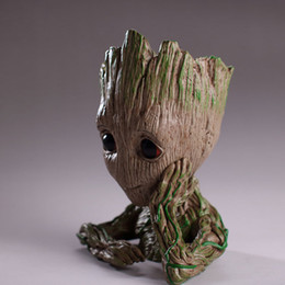 $enCountryForm.capitalKeyWord Australia - Guardians of The Galaxy Flowerpot Baby Groot Action Figures Cute Model Toy Pen Pot Best Fashion Christmas Gifts For Kids