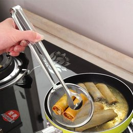 Kitchen Serving Tongs Australia - Handy Stainless Steel Cooking Serving Clip Fryer Strainer Tong Mesh Tongs Kitchen Tools