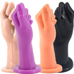$enCountryForm.capitalKeyWord Canada - Adult Fist Sex Huge Realistic Hand Anal Plug Suction Cup Butt Plug Anal Sex Toys for Men Women Erotic Adult Sex Toys H8-2-6