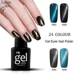 Venta al por mayor de Zation Nail Gel Magnet Gel UV Camaleón Laca de Ojos Esmalte de Uñas Esmalte de Cambio de Color Barniz Laca Magnética Arte