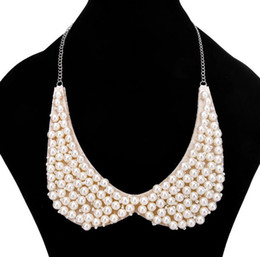 short fake collars UK - Short style necklace Sweet temperament fake collars sell fashion accessories necklace Pearl jewelry free shipping WQ29