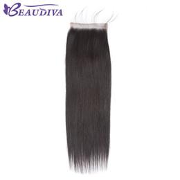 Discount straight human hair middle part closure - Brazilian Straight Hair 4x4 Lace Closure Free Part 100% Human Hair 8-20 inch Natural Color Virgin Hair Free Shipping