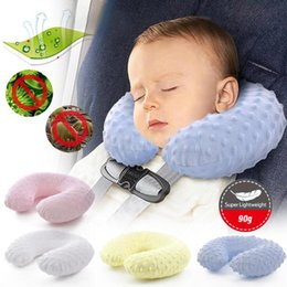 protection baby 2019 - Baby Car Seat Head Supprot Neck Head Protection KidsTravel U Style Neck Pillow Cushion Car Baby Pillows XV2 discount pro