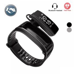 Headphone Control Android NZ - For iphone samsung smartphones y3 smart watch Bracelet 2 in 1 bluetooth headphones headset Heart Rate Monitor