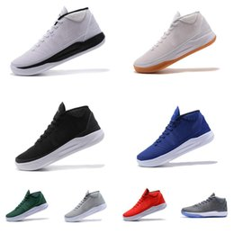 quality design d225a 81dba Cheap New Men Kobe AD MID basketball shoes Team Red Blue Green Cool Grey  Black White Gum KB 12 elite sneakers boots tennis for sale with box