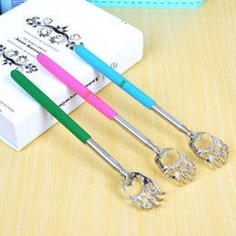 Retractable stainless steel Tickle Bear's paw Scratching the back Metal Graber Tickle Artifact Scratching device T4H0492 from electronics speed controller suppliers