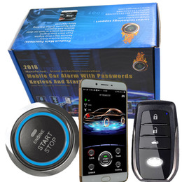 phone sensor 2018 - english Voice control car alarm with proximity sensor smart key entry smart phone app control and gps online real time t