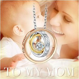 "$enCountryForm.capitalKeyWord Canada - ""I Love You Mom,Always be with you"" Pendant Necklaces Jewelry Fashion Crystal Necklace Christmas Gift CCA8698 100pcs"