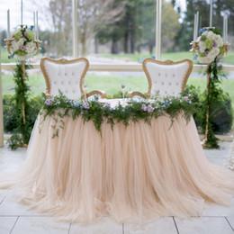 $enCountryForm.capitalKeyWord NZ - 100*80cm Mint Green Tulle Table Skirts Wedding Tutu Table Decoration Cheap Creative Baby Showers Custom Made Birthdays Party Decor
