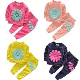 $enCountryForm.capitalKeyWord NZ - Toddler Kids Baby Girls Autumn Outfits Clothes T-shirt Tops Dress+Pants 2PCS Set Childrens Clothing