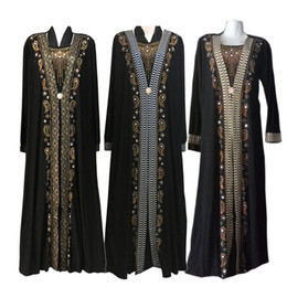 Mode arabe musulman Abaya Dress vêtements islamique pour les femmes Dubaï Kaftan Abaya Dress robes turques musulmanes Modest Abaya robes
