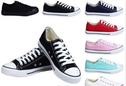 $enCountryForm.capitalKeyWord Canada - NEW size35-45 New Unisex Low-Top & High-Top Adult Women's Men's star Canvas Shoes 13 colors Laced Up Casual Shoes Sneaker shoes retail