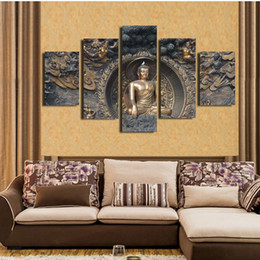 $enCountryForm.capitalKeyWord NZ - Abstract Modular Pictures 5 Panel Buddha Landscape Wall Art Prints Poster For Living Room Artwork Canvas Painting Home Decoration