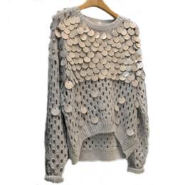 $enCountryForm.capitalKeyWord UK - Fashion-nice Autumn New Fashion Sequins Hollow Pullover Sweaters Knit Asymmetric