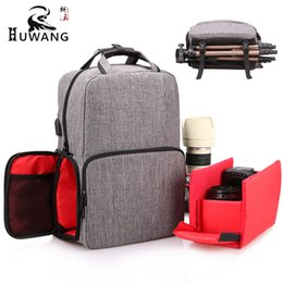 Dslr Cameras Bags Australia - Fashion DSLR Camera Backpack Polyester Waterproof Photography Camera Bags 14'' Laptop Pocket Tripod Strap USB Port Raincoat.