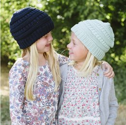 d037f313e15 children s outdoor cap Fashion knitting hats pure color Autumn and Winter Wool  Hats fashionable warm protective ear cap. knit hair acce