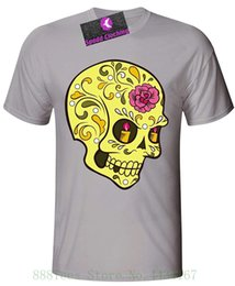 $enCountryForm.capitalKeyWord Australia - Clothing Candle Eye Sugar Skull Mens T Shirt Tshirt O neck Summer Personality Fashion Men T shirts