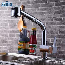 $enCountryForm.capitalKeyWord Australia - Azeta Free Shipping Kitchen Water Tap Chrome Brass Single Handle Pull-out Faucet Rotatable Kitchen Sink Faucet MK9824C