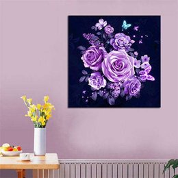 art kits for kids NZ - 5D Diamond Painting DIY Flower Full Drill DIY Embroidery Cross Craft Kit Home Decor Art Craft For Kids Ladies
