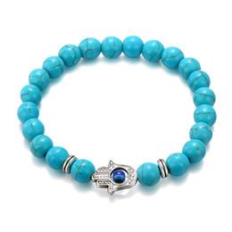$enCountryForm.capitalKeyWord Australia - MOODHOD new 2018 fashion women beads jewelry vintage blue black color hand shaped beaded women bracelet BR-03