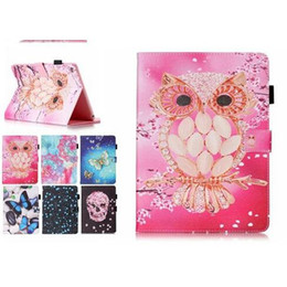 China Wallet Leather Australia - Color Mix Butterfly owl PU Leather Stand Wallet Flip Card Slots Covers Case for Samsung Galaxy Tab T280 T230 T550 T560 T580