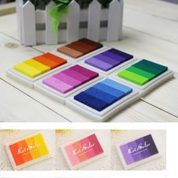 Çok Renk seçeneği Için Degrade Yağ Bazlı Mürekkep pedi Tabela Kağıt Ahşap El Sanatları Kauçuk Damga Kumaş Dayanıklı