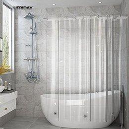 UFRIDAY Tenda da doccia trasparente completa Tende da bagno trasparenti Fodera PEVA Muffa impermeabile Tenda da bagno in tessuto impermeabile per la casa in Offerta