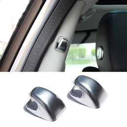 car interior hooks 2019 - 2pcs Chrome ABS B Column Hook decoration covers trim for Land Rover Discovery Sport 2015-17 Car interior accessories che