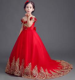 HigH glitz pageant dresses online shopping - Flower Girl Dress Kids Ball Gowns First Communion Dresses Pageant Girls Glitz Scoop Lace Tulle Kids Dress Girl Clothing AA82