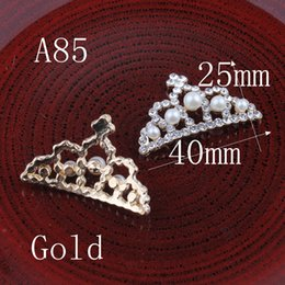$enCountryForm.capitalKeyWord Australia - Hair Accessories Headbands Headwear 30pcs Vintage Crown Mouse Metal Rhinestone Bling Alloy Flatback Flower Crystal Buttons