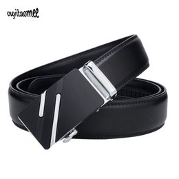 465f1b4c6 Ouyitaomee Men Fashion Business Brand Belts Genuine Leather Strap Male Belt  for Man Pant Automatic Buckle Belt Erkek Kemer