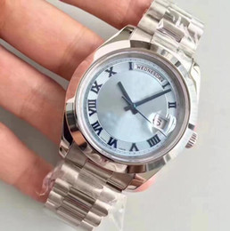 men dress automatic watches 2019 - 2018 Brand New Fashion Top Luxury Automatic Mechanical Self Wind Watch Men Silver Dial Full Stainless Steel Wristwatch D