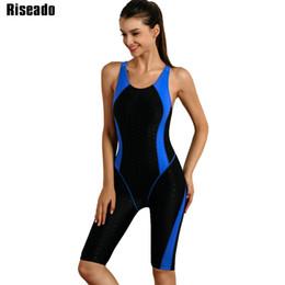 d0eb6880c Riseado 2017 one piece swimsuit marca swimwear backless esporte ternos de  natação para as mulheres nadar desgaste fatos de banho de competição