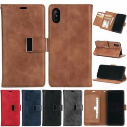 $enCountryForm.capitalKeyWord Australia - Flip Card Holder Leather Case For iPhone 6 6S 7 8 Plus X 5S Retro Cover For Samsung S6 S7 Edge S8 S9 Note 5 8 J A Series Wallet